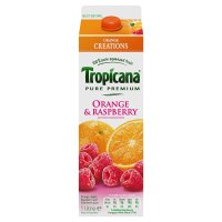 Tropicana orange & rapberry juice