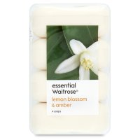 essential Waitrose lemon blossom & amber soap - 4 bars