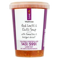 Waitrose LOVE life red lentil & chilli soup