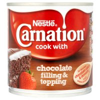 Nestlé carnation chocolate filling & topping