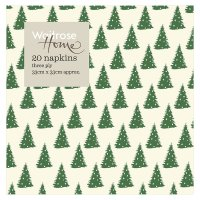 Waitrose Home Christmas Trees Napkins
