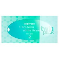 Waitrose ultra balm white tissues