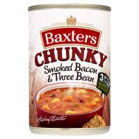 Baxters Chunky smoked bacon & three bean soup
