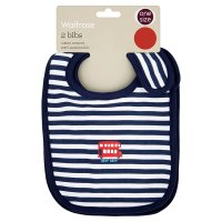 Waitrose SPECIAL BUY 2PK BOYS VROOM BIBS
