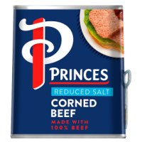 Princes reduced salt corned beef