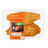 Waitrose 2 lemon sole fillets in a dusted seasoning