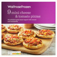 Waitrose Frozen 9 mini cheese & tomato pizzas