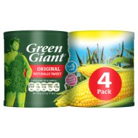 Green Giant canned original sweetcorn, 4 pack