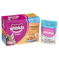 Whiskas Simply steamed fish in jelly pouch cat food