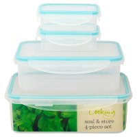 Waitrose Seal & Store rectangle containers, set of 4