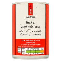 Waitrose Love life chunky beef & vegetable soup