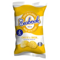 Seabrook cheese & onion crisps