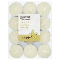 essential Waitrose vanilla tealights
