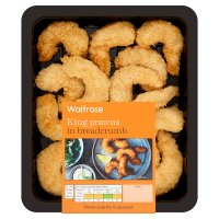 Waitrose Breaded Jumbo King Prawns