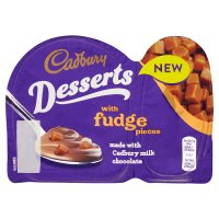 Cadbury Desserts with Fudge Pieces