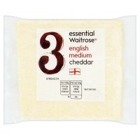 Essential Waitrose english cheddar (medium)