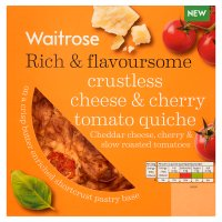 Waitrose crustless cheese & cherry tomato quiche