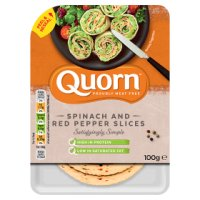 Quorn Spinach & Red Pepper Slices