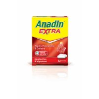 Anadin extra aspirin, paracetemol and caffeine (pack of 12)