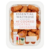 essential Waitrose 40 cooked cocktail sausages