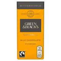 Green & Black's Organic milk chocolate with butterscotch