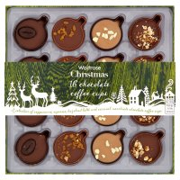 Waitrose Christmas 16 chocolate coffee cups