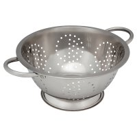 essential Waitrose 24cm steel colander