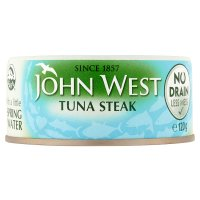 John West no drain tuna steak spring water