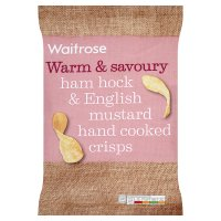 Waitrose ham hock & English mustard hand cooked crisps