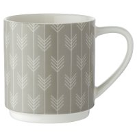 Waitrose Grey Chevron Dash Mug