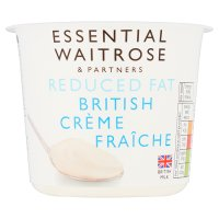 essential Waitrose Reduced Fat British Crème Fraîche