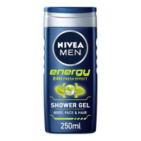 Nivea for men 2 in 1 shower gel, energy