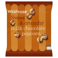 Waitrose milk chocolate popcorn