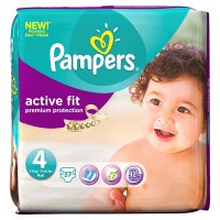 Pampers Active Fit 4 Essential 37 Nappies