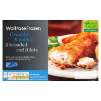 Waitrose Frozen 2 breaded cod fillets