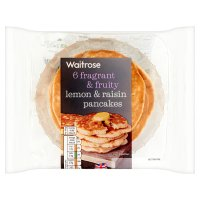 Waitrose 6 lemon & raisin panckes