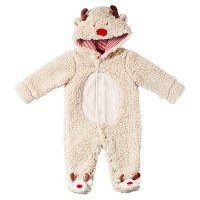 Waitrose CHRISTMAS REINDEER FLEECE AIO 9-