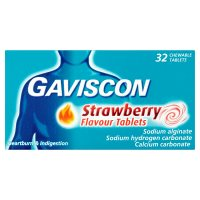 Gaviscon 32 strawberry tablets strawberry