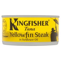 Kingfisher pole & line yellowfin tuna steak in oil