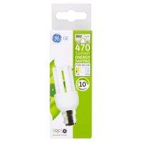 GE energy saving standard 470 lumen 9W B22 BC stick