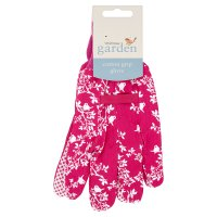 Waitrose Garden Cotton Grip Glove Pink