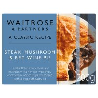 Steak, mushroom & red wine pie