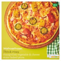 Waitrose stone baked pizza chargrilled vegetable & cheese