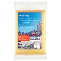 Waitrose Le Gruyere AOP cheese
