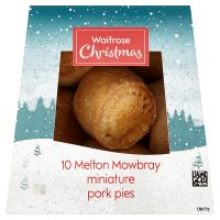 Waitrose Christmas 10 Melton Mowbray Miniature Pork Pies