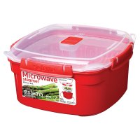 Sistema 2.4 litre red medium steamer