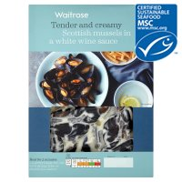 Waitrose MSC Scottish mussels in cream & white wine