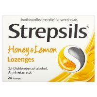 Strepsils 24 honey & lemon lozenges