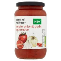 essential Waitrose tomato, onion & garlic pasta sauce