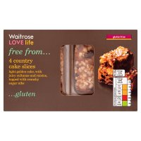 Waitrose LOVE life gluten free country cake slices